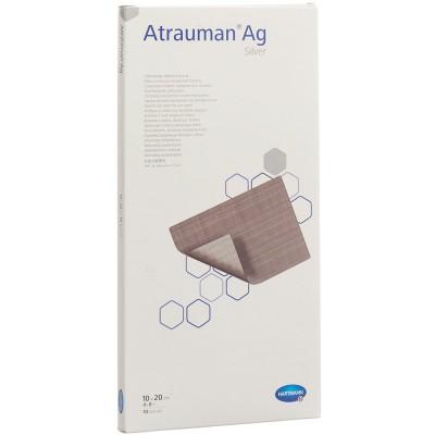 Атрауман АГ мазевая повязка с серебром 10 х 20 см, 10 шт. (фотография)