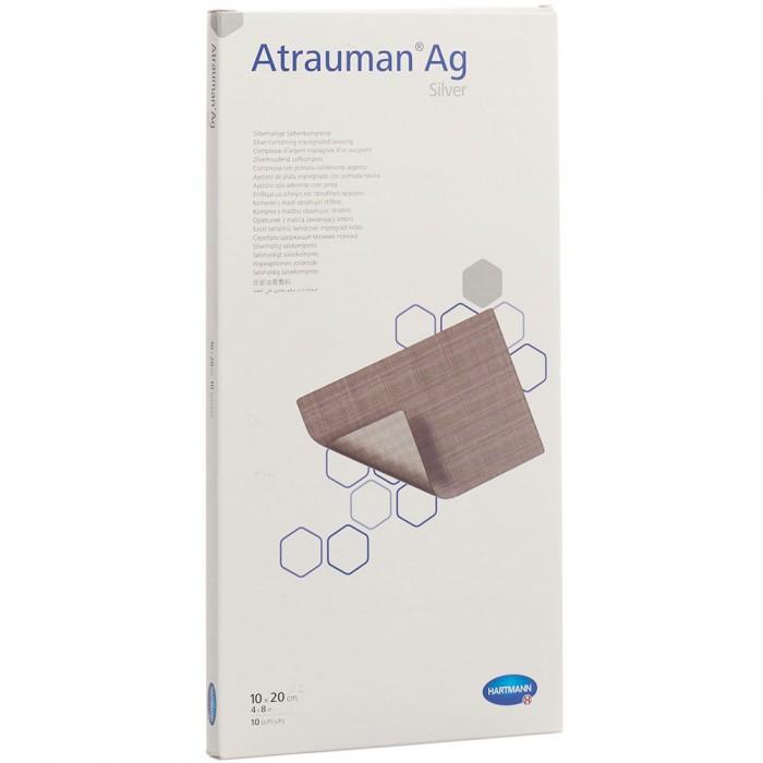 Атрауман АГ мазевая повязка с серебром 10 х 20 см, 10 шт.