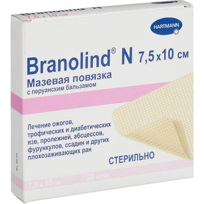Бранолинд Н с перуанским бальзамом мазевая повязка 7,5 х 10 см, 30 шт.