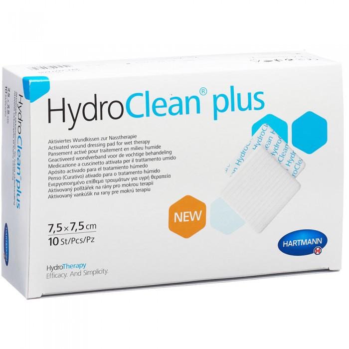 ГидроКлин Плюс гидроактивная повязка 7,5 х 7,5 см, 10 шт.