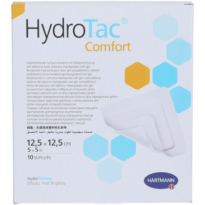 ГидроТак комфорт губчатая повязка c гидрогелевым покрытием 12,5 х 12,5 см, 10 шт.