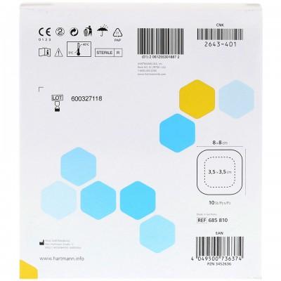ГидроТак комфорт губчатая повязка c гидрогелевым покрытием 8 х 8 см, 10 шт.