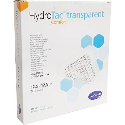 ГидроТак транспарент комфорт гидрогелевая повязка 12,5 х 12,5 см, 10 шт. (фотография)