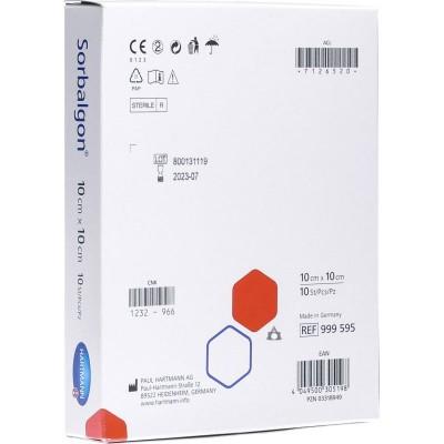 Сорбалгон повязка из волокон кальция-альгината 10 х 10 см, 10 шт.