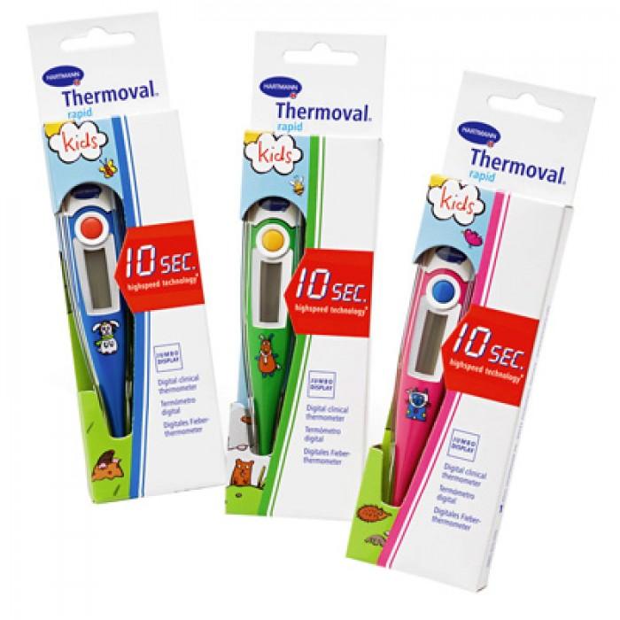 Thermoval Rapid Kids электронный медицинский термометр, детская серия, 10 сек.