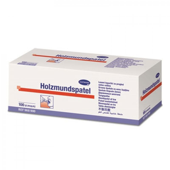 Hartmann медицинский деревянный шпатель, 100 шт.
