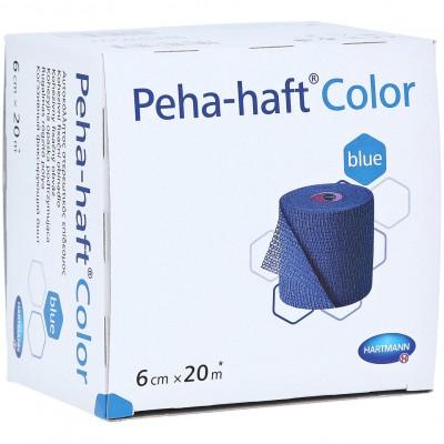Пеха-Хафт самофиксирующийся бинт 20 м х 6 см, синий (фотография)