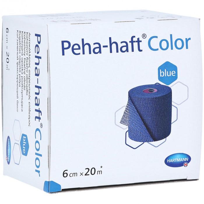 Пеха-Хафт самофиксирующийся бинт 20 м х 6 см, синий