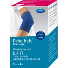 Пеха-Хафт самофиксирующийся бинт 4 м х 8 см, синий