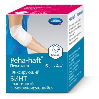 Пеха-Хафт (Peha-Haft) самофиксирующиеся бинты, 4 м (фотография)