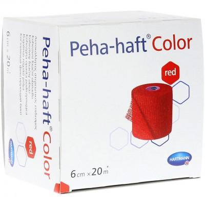 Пеха-Хафт самофиксирующийся бинт 20 м х 6 см, красный (фотография)