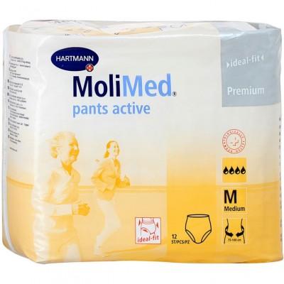 MoliMed pants active размер M подгузники-трусы для женщин, 12 шт. (фотография)