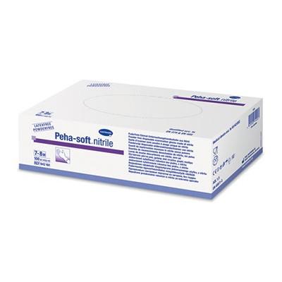 Peha-soft nitrile голубые нитриловые перчатки (фотография)