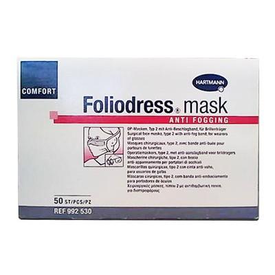 Foliodress mask Comfort Anti fogging медицинские маски с защитой от запотевания очков, 50 шт. (фотография)