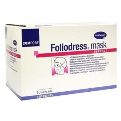 Foliodress mask Comfort Perfect трехслойные медицинские маски для кожи с нормальной чувствительностью, 50 шт. (фотография)