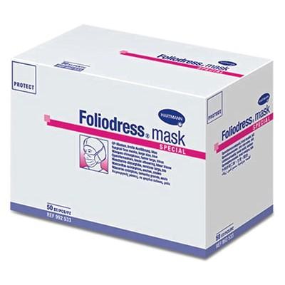 Foliodress mask Comfort Special трехслойные медицинские маски для хирургов, носящих бороду и очки, 50 шт. (фотография)