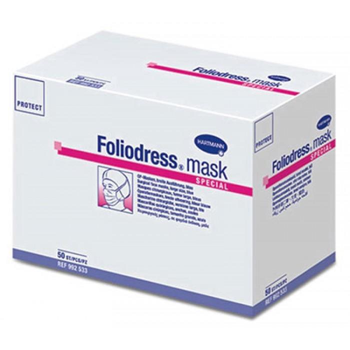 Foliodress mask Comfort Special трехслойные медицинские маски для хирургов, носящих бороду и очки, 50 шт.