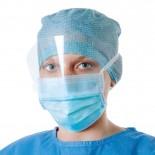 Foliodress mask Anti splash visor медицинская маска с защитным экраном, 50 шт.