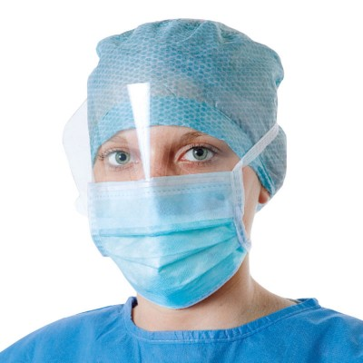 Медицинская маска с защитным экраном Foliodress mask Anti splash visor, 50 шт. (фотография)