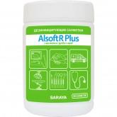 Алсофт Р Плюс дезинфицирующие салфетки с запахом луговых трав, 90 шт.