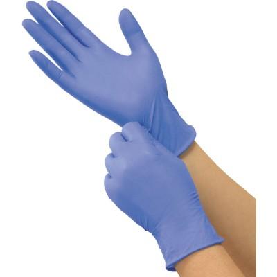 Saraya нитриловые перчатки неопудренные смотровые голубые, 100 пар (фотография)