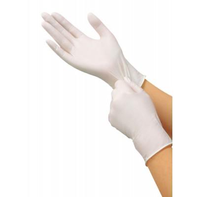 Saraya белые нитриловые перчатки, 100 пар (фотография)