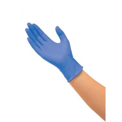 Медицинские перчатки Saraya из нитрила голубого цвета