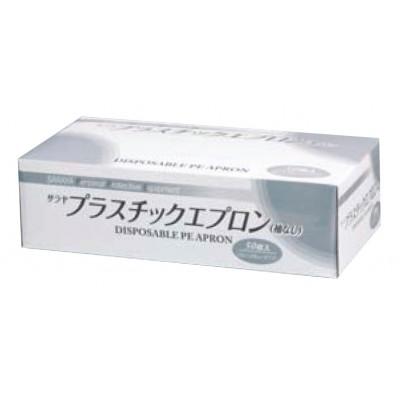 Упаковка с белыми одноразовыми фартуками Saraya