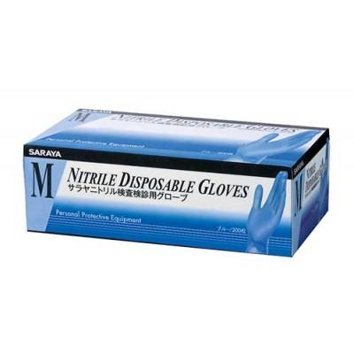 Saraya нитриловые смотровые неопудренные перчатки, голубые, 100 пар (фотография)