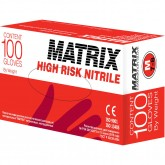Matrix High Risk Nitrile нитриловые перчатки повышенной прочности, 50 пар