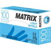 Matrix Light Nitrile нитриловые перчатки неопудренные смотровые голубые, 50 пар