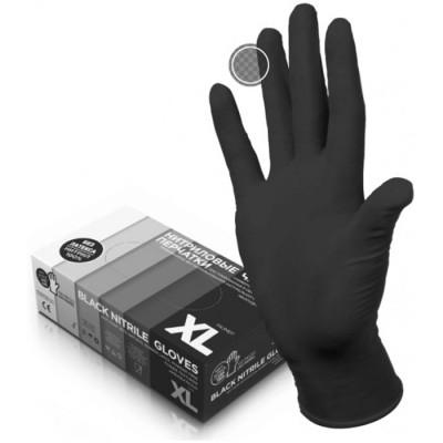 Top Glove универсальные нитриловые перчатки черные, 50 пар (фотография)
